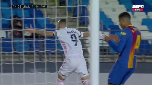 Real Madrid 1-0 Barcelona: así fue el gol de Karin Benzema