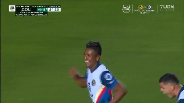 Pedro Aquino anotó gol para el América 2-0 Tigres