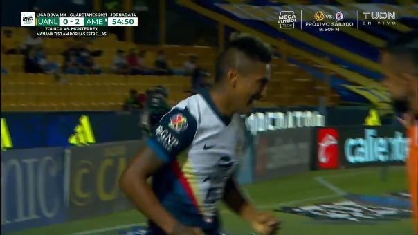 América 2-0 Tigres: así fue el golazo del peruano Pedro Aquino