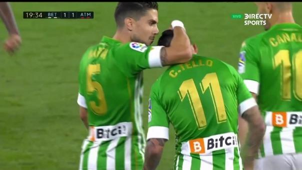 Atlético de Madrid 1-1 Betis: así fue el gol de Cristian Tello