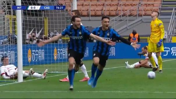 Gol del Inter de Milán.