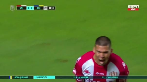 Unión 1-0 Boca Juniors: así fue el gol de Nicolás Peinailillo