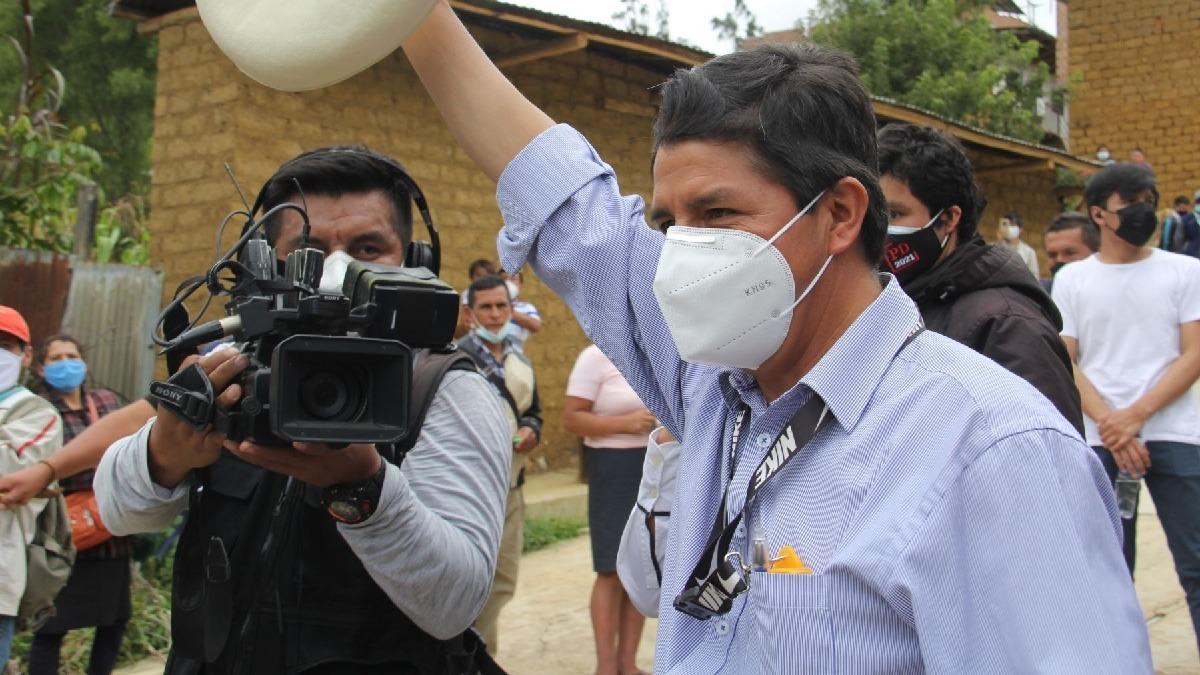 Pedro Castillo, candidato presidencial de Perú Libre.