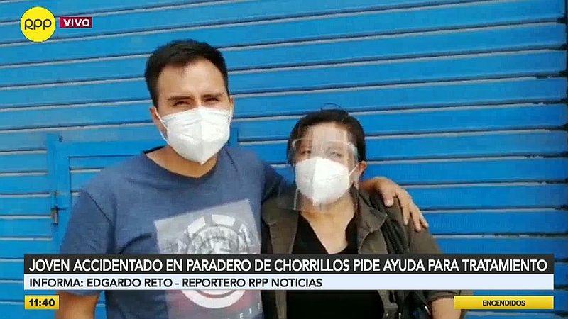 El joven destacó el desempeño de un sereno de Chorrillos, la única persona que lo ayudó al momento del incidente.