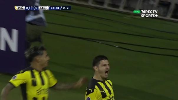 Peñarol 1-0 Cerro Largo: así fue el gol de Agustín Martínez