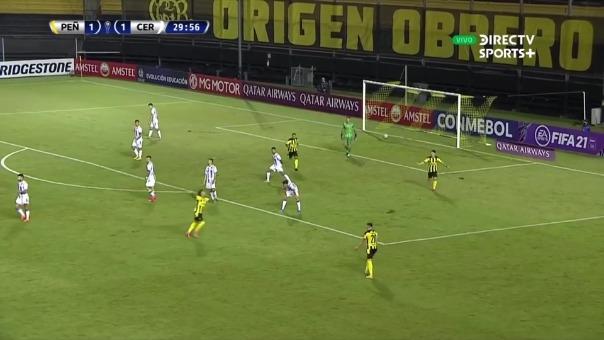 Peñarol vs Cerro Largo: así fue el segundo gol de Agustín Álvarez