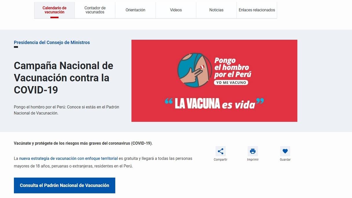 Presidente Sagasti dio detalle del nuevo Plan de Vacunación.
