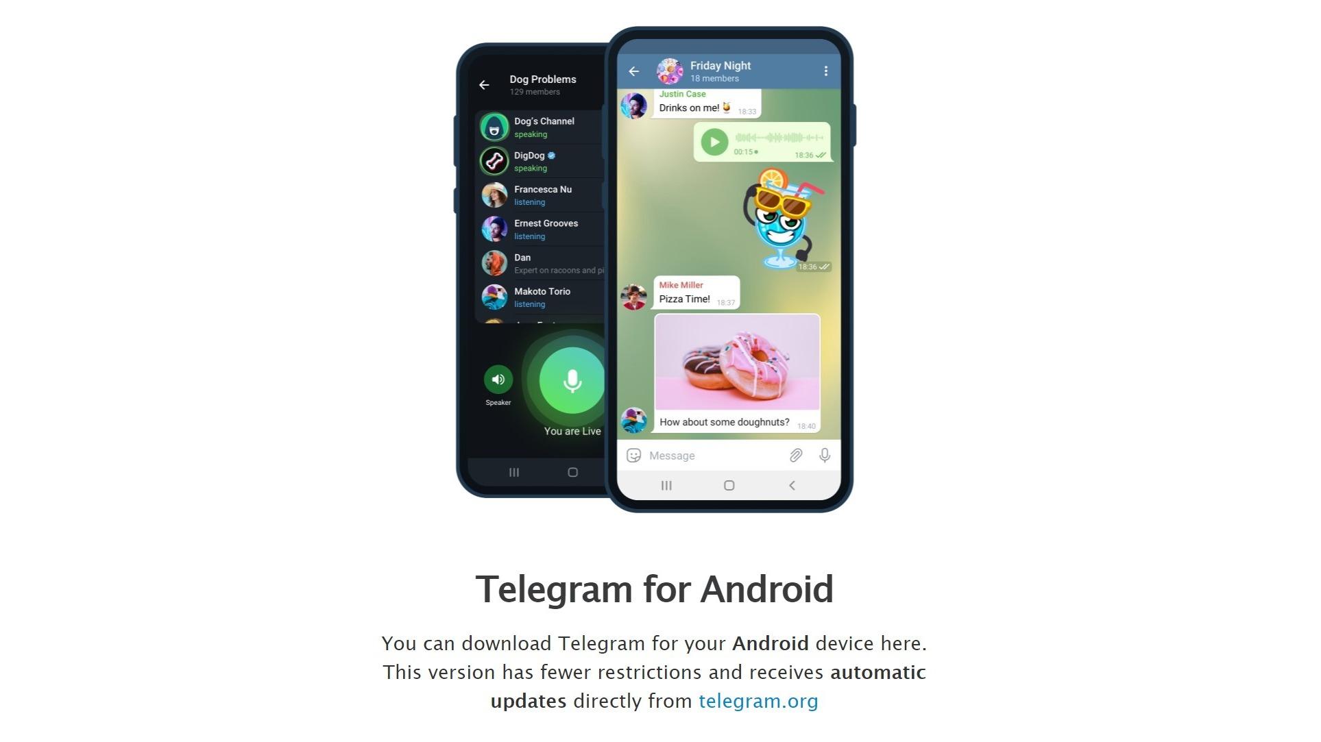 VIDEO | Así enseña telegram a descargar su app desde el sitio web
