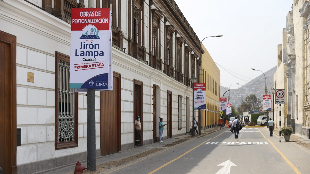 Municipalidad de Lima presenta plan de desvío por inicio de obras de peatonalización en el Centro Histórico.