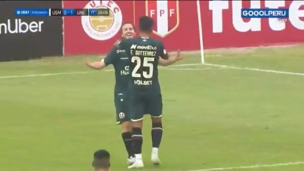 Gol de Hernán Novick para el 1-0 de Universitario