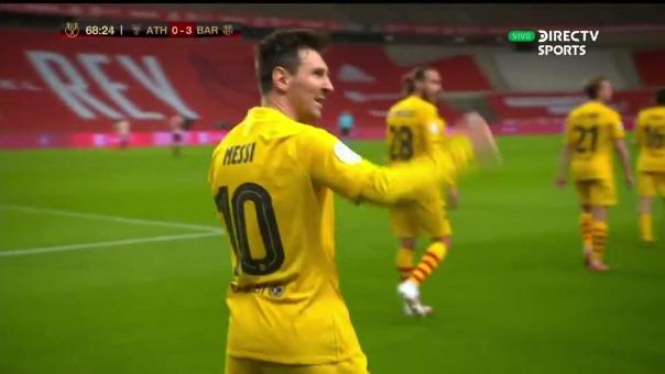 Así fue el primer gol de Lionel Messi en el Barcelona vs. Athletic Club por la Copa del Rey