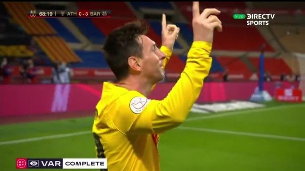 Así fue el primer gol de Lionel Messi en la victoria de Barcelona ante Athletic Club