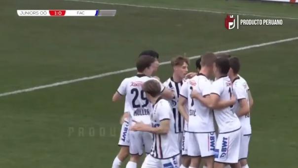 Primer gol de Matías Succar en el FC Juniors