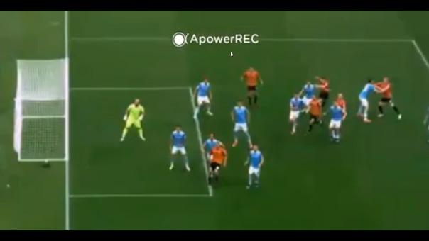 Gol anulado a Gianluca Lapadula.