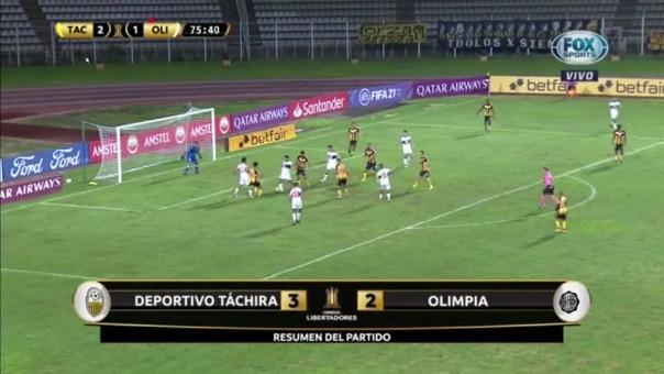 Táchira venció a Olimpia: así fueron los goles