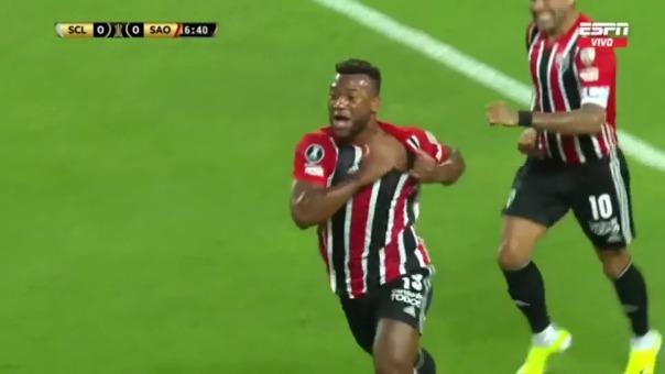 Luan puso el 1-0 para Sao Paulo ante Sporting Cristal