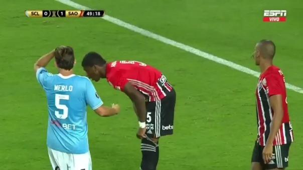 Esta fue la mano de Bruno Alves en partido ante Sporting Cristal