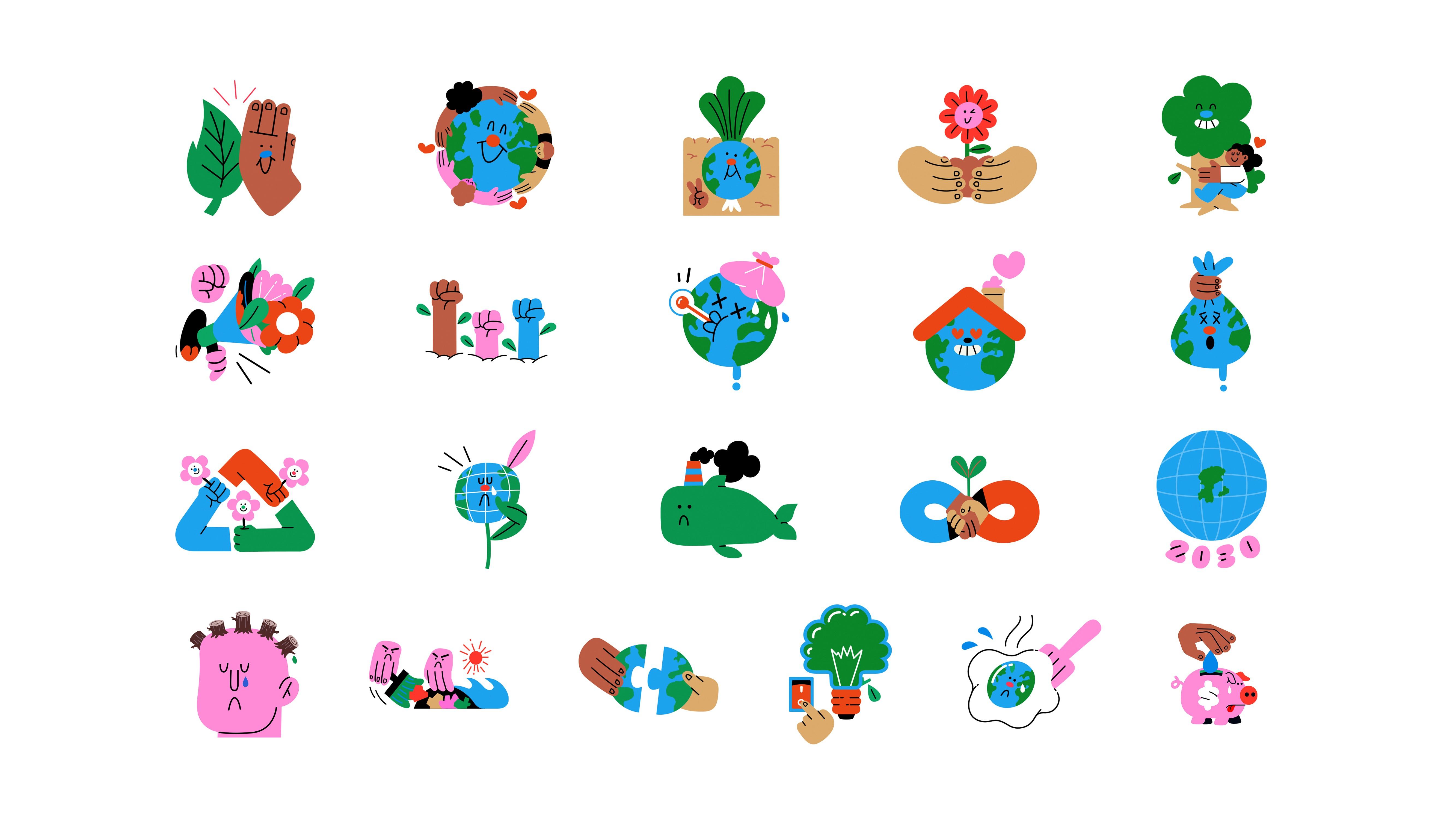 Así es la colección de stickers añadidos.