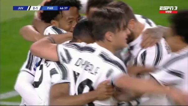 Juventus2-1 Parma: así fue el segundo gol de Alex Sandro