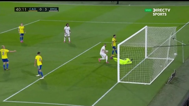 Cádiz 0-3 Real Madrid: así fue el segundo gol de Benzema