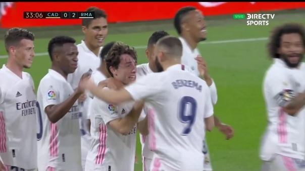 Cádiz 0-2 Real Madrid: así fue el gol de Odriozola