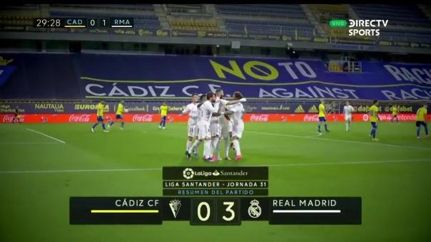 Real Madrid venció 3-0 a Cádiz por LaLiga Santander