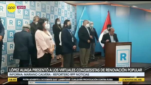 Rafael López Aliaga presentó a los virtuales congresistas de Renovación Popular