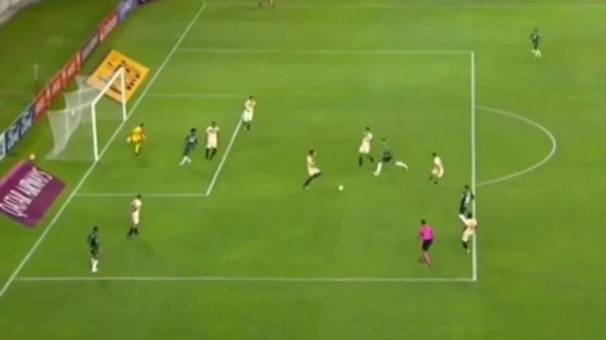 Este fue el 2-0 del Palmeiras ante Universitario por Copa Libertadores.