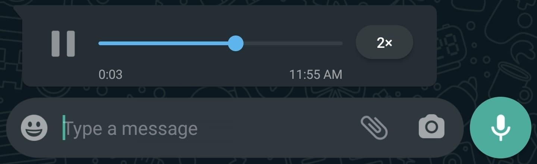 La aceleración de audios llegó a WhatsApp.