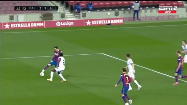 Barcelona vs. Getafe: así fue el segundo gol de Lionel Messi