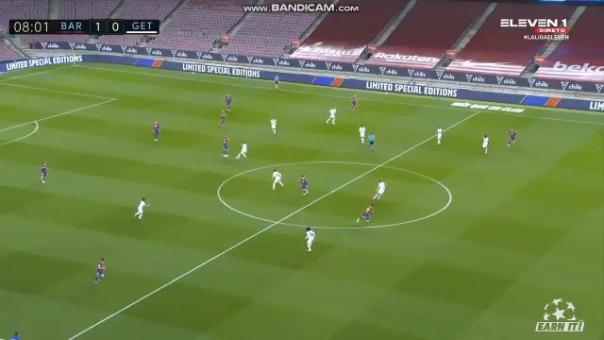 Lionel Messi anotó el 1-0 de Barcelona ante Getafe