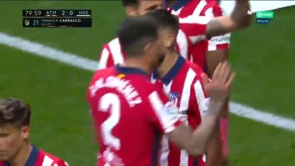 Yannick Carrasco marcó el 2-0 de Atlético ante Huesca