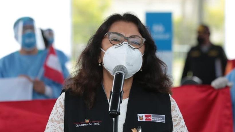 La presidenta del Consejo de Ministros participó en la inauguración de un vacunatorio en Surquillo.