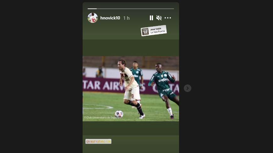 Hernán Novick publicó este video en sus historias de Instagram.