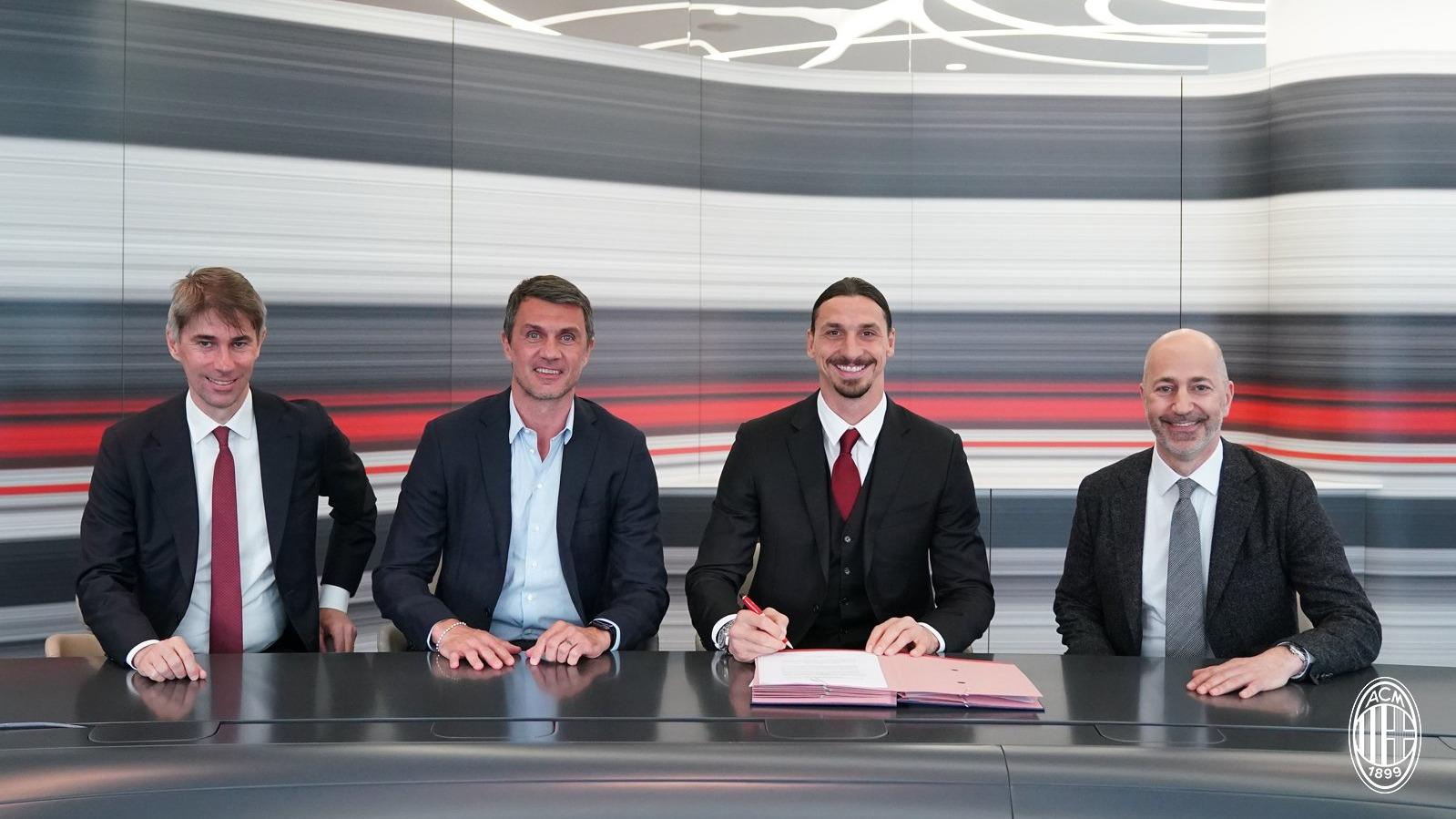 Zlatan Ibrahimovic es un hincha más del AC Milan.