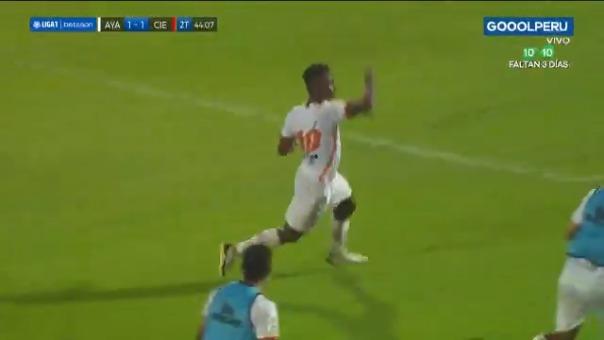 Roberto Villamarín le dio el 1-1 a Ayacucho FC ante Cienciano