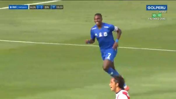 Johan Arango anotó el 1-0 de Binacional ante Municipal