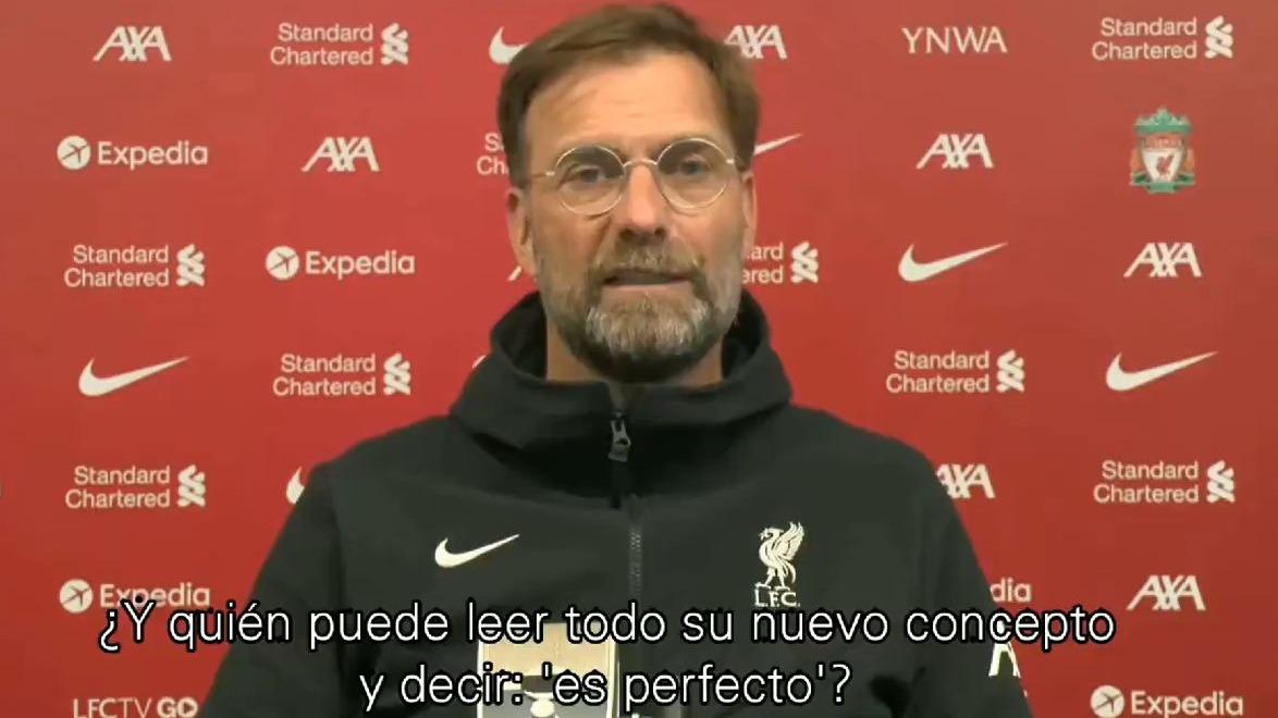 Las palabras de Jürgen Klopp por el nuevo formato de la Champions League.