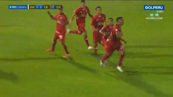 Hansell Riojas convirtió el 1-0 para Cienciano