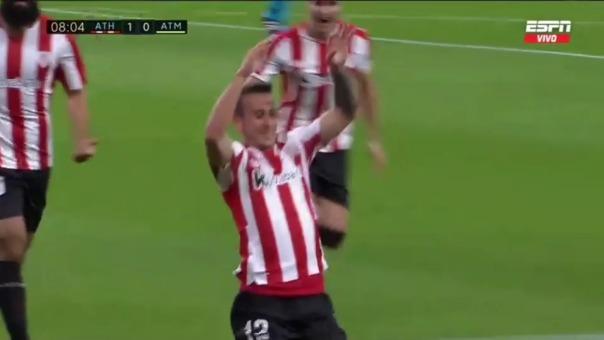 Athletic CLub  1-0  Atlético de Madrid:  así fue el gol de Alex Berenguer