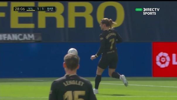 Antoine Griezmann marcó dos goles en el Barcelona vs. Villarreal