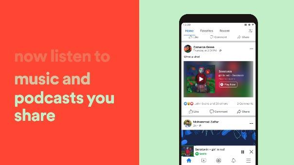 VIDEO: Así funciona el mini reproductor de Spotify en Facebook