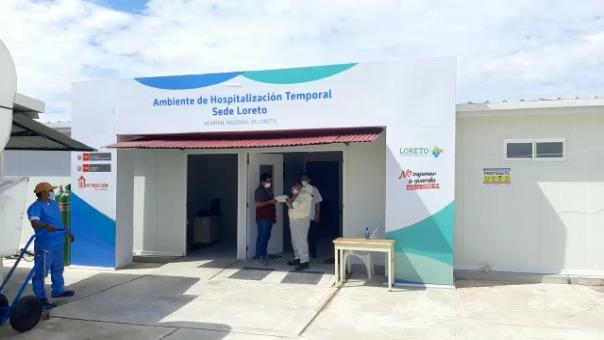 Hospitales de Loreto cuentan con disponibilidad de camas Uci y de hospitalización
