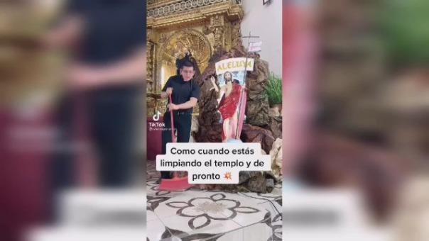 Padre David Miranda no solo envía mensajes de reflexión sino también realiza videos divertidos.