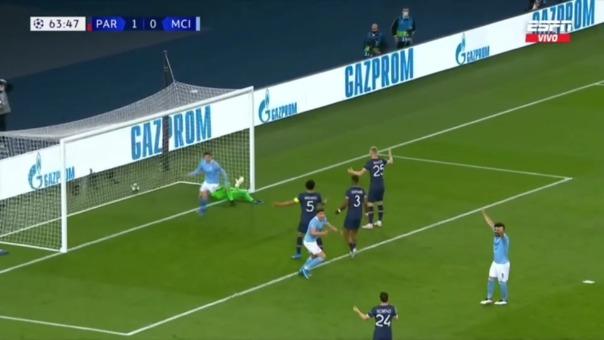 PSG 1-1 MANCHESTER CITY: Así fue el gol de De Bruyne
