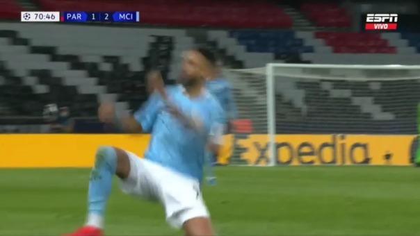PSG 1-2  MANCHESTER CITY: así fue el gol de Riyad Mahrez