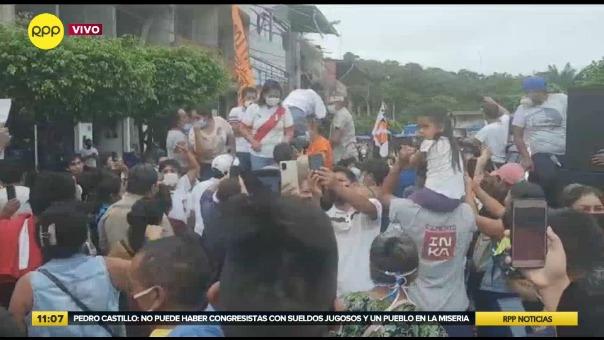 Keiko Fujimori continúa con sus actividades de campaña.