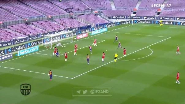 Golazo de Lionel Messi para el 1-0 ante Granada