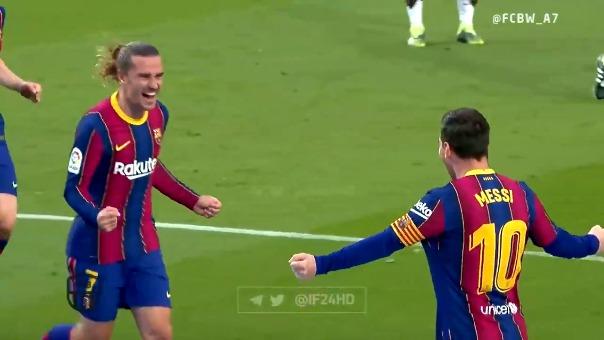 Lionel Messi anotó golazo para el 1-0 de Barcelona