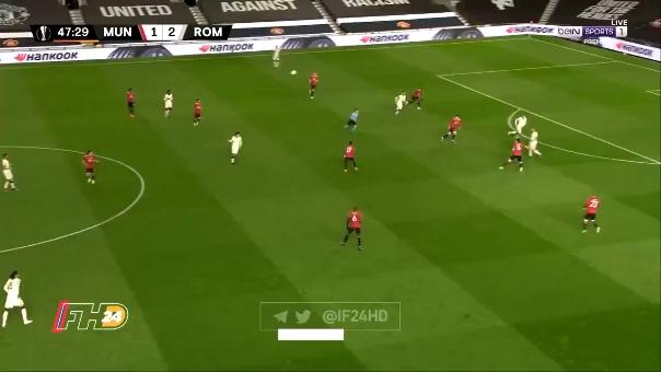 Este fue el golazo de Cavani en el Manchester United vs. Roma.